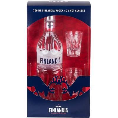 Finlandia with 2 shot glasses ( 0.7 л )