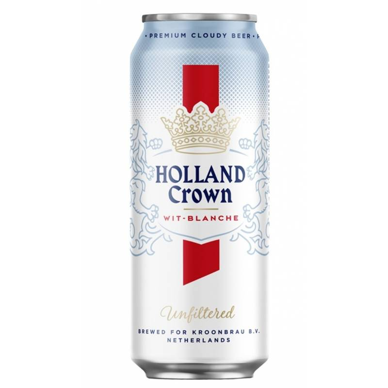Holland Crown Wit Blanche Unfiltered - 0,5 л ж/б Holland Crown