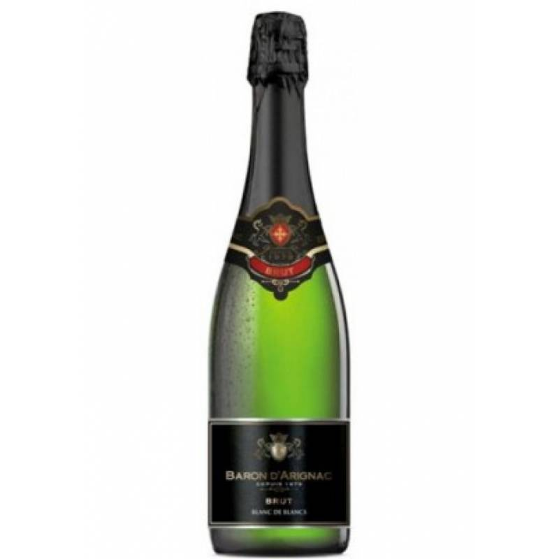 Baron d'Arignac Brut Blanc de Blancs (  Baron d'Arignac Брют Блан де Блан ) 0,75л  Les Grands Chais de France