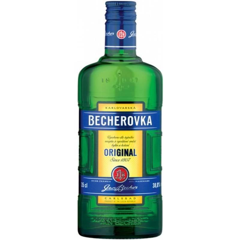 Becherovka - 0,35 л Jan Becher – Karlovarská Becherovka, АТ - АРХИВ!!!