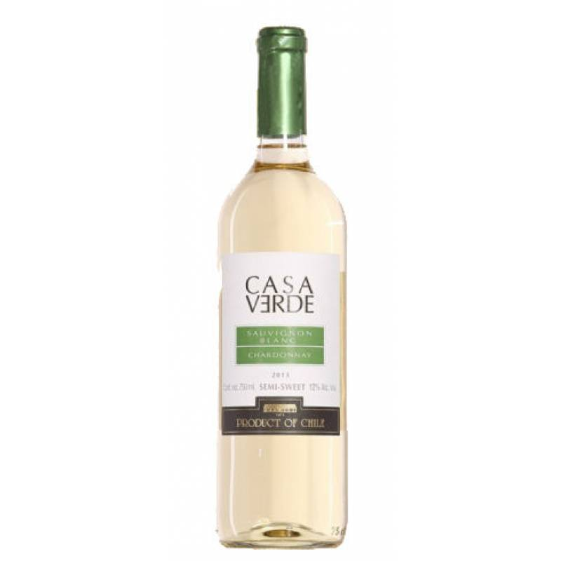 Casa Verde Sauvignon Blanc/Chardonnay (  CV Совиньон Блан/Шардоне ) 0,75л  Bodegas y Vinedos de Aguirre (Бодегас и Виньедос Де Агирре) - АРХИВ!!!