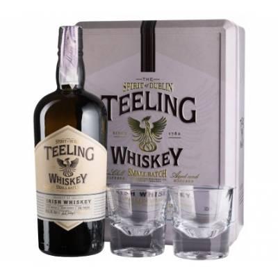 Teeling Small Batch + 2 glasses, gift box - 0,7 л