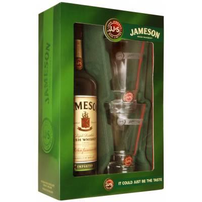 Jameson 0,7л в коробке + 2 бокала