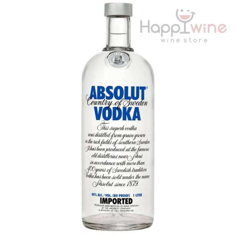Absolut - 1,0 л  The Absolut Company AB - АРХИВ!!!