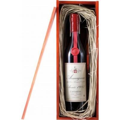 Armagnac Castarede, wooden box, 1987 (0,7 л)