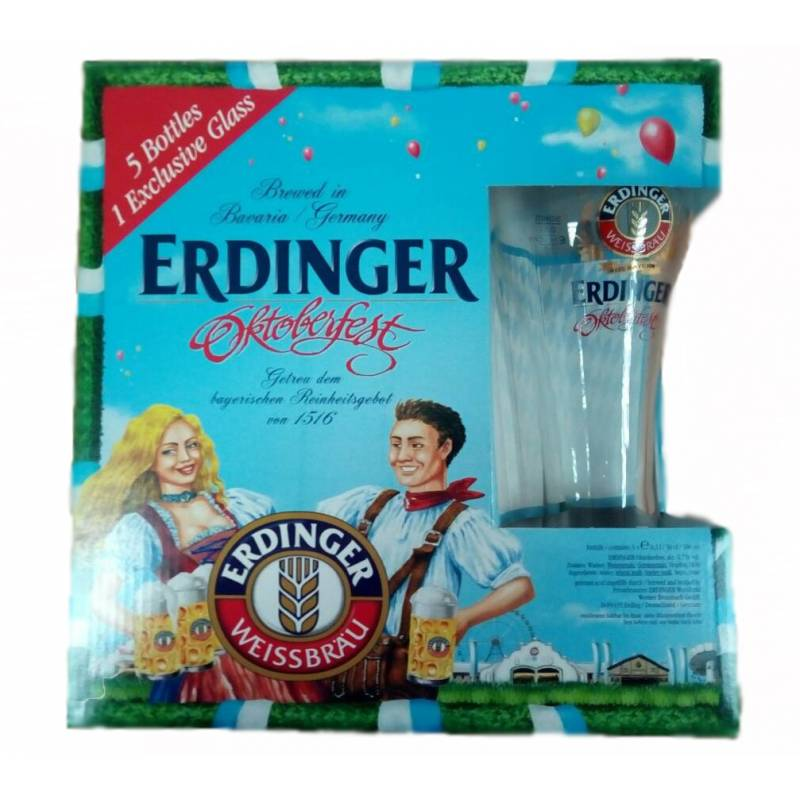 ERDINGER Oktoberfest 5бут+1 бок ( 0,5л )   ERDINGER - АРХИВ!!!