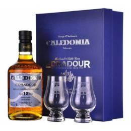 Edradour Caledonia 12yo + 2 glasses, gift box 0,7 л