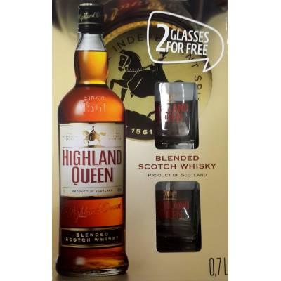 Highland Queen + 2 бокала - 0,7 л
