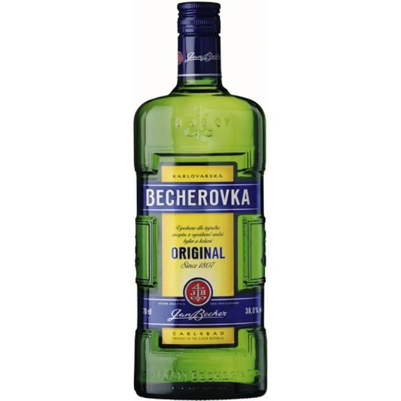 Becherovka в коробке ( 0,5л ) Jan Becher – Karlovarská Becherovka, АТ - АРХИВ!!!
