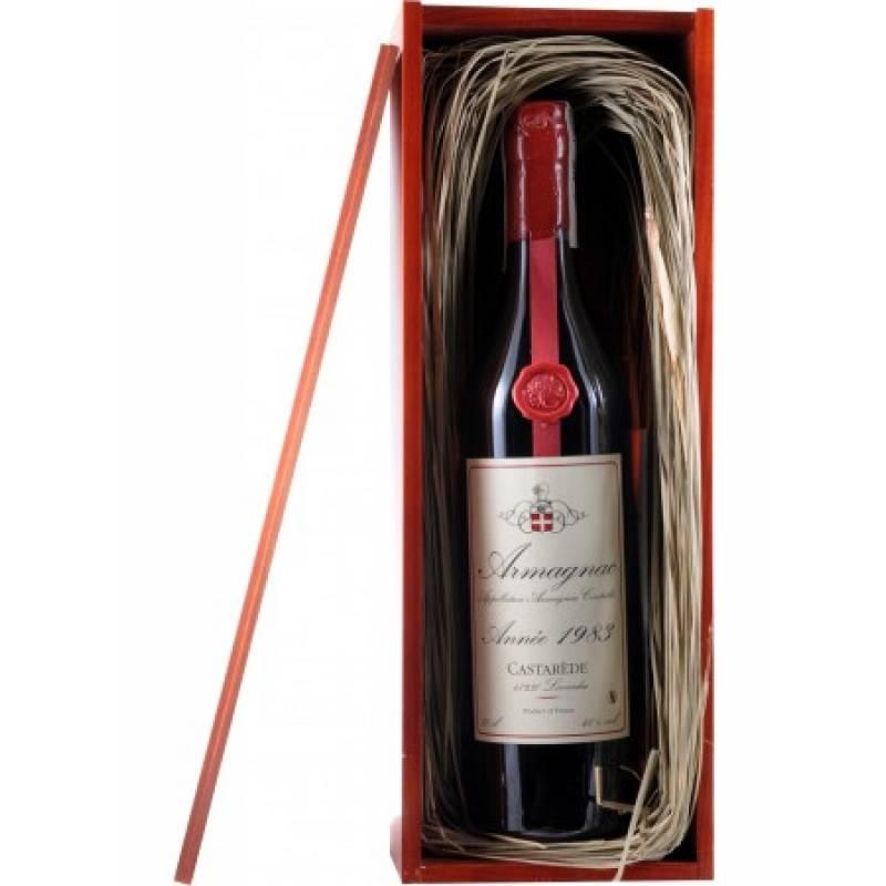 Armagnac Castarede, wooden box 1983 - 0,7 л Castarede