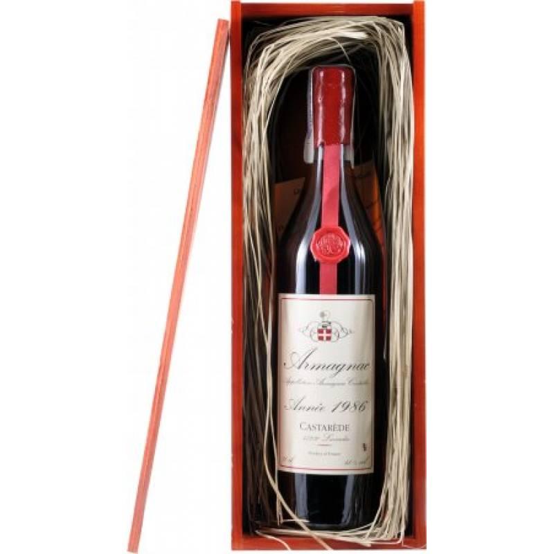Armagnac Castarede, wooden box, 1986 - 0,7 л Castarede