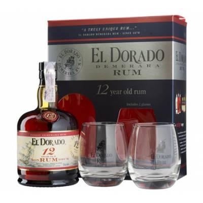 El Dorado 12yo+2бок , gift box - 0,7 л