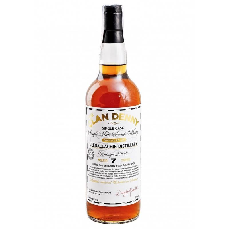 Clan Denny Malt Whisky 7л Old Glenallachie 2008 Sherry Butt - 0,7 л Douglas Laing - АРХИВ!!!