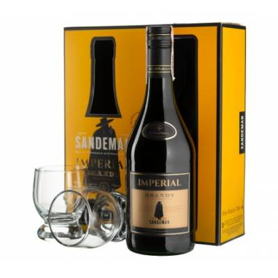 Sandeman Imperial Jerez + 2 glasses  - 0,7 л