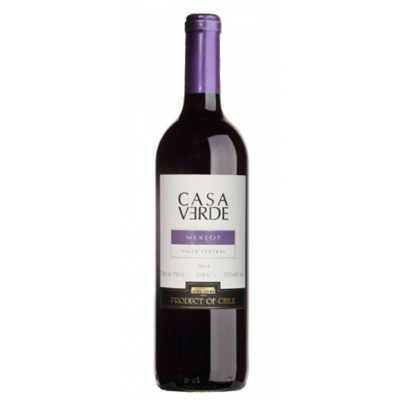Casa Verde Merlot ( CV Мерло ) 0,75л  Bodegas y Vinedos de Aguirre (Бодегас и Виньедос Де Агирре) - АРХИВ!!!