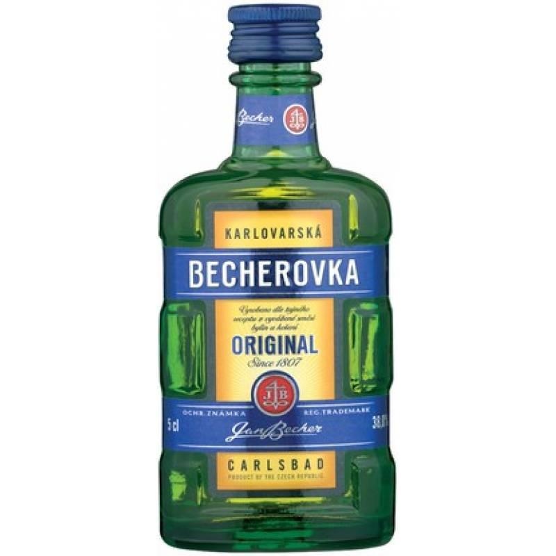 Becherovka - 0,05 л Jan Becher – Karlovarská Becherovka, АТ - АРХИВ!!!