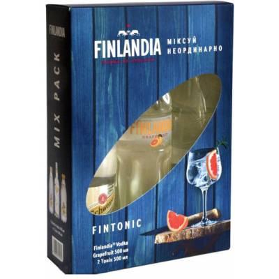 Finlandia Grapefruit 0,5л + 2 Schweppes 0.5 л