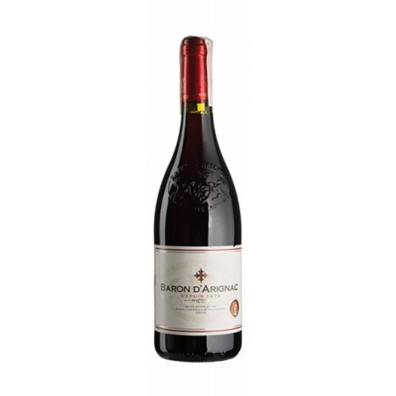 Baron d'Arignac Rouge (  Baron d'Arignac Руж ) 0,75л  Les Grands Chais de France