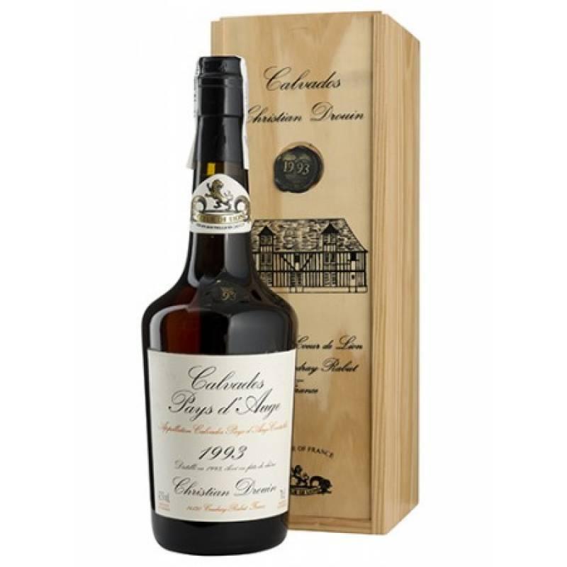 Calvados Coeur de Lion Pays d'Auge 1993, gift box (0,7 л) Christian Drouin - АРХИВ!!!