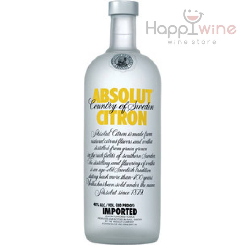 Absolut Citron ( лимон) ( 0,5л ) The Absolut Company AB - АРХИВ!!!