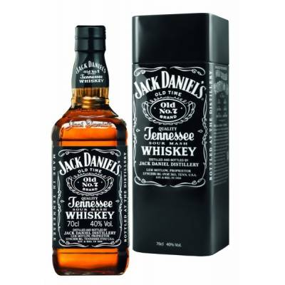 Jack Daniel's with metal box, ( 0.7 л )