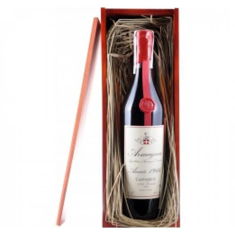 Armagnac Castarede, wooden box, 1966 - 0,7 л Castarede - АРХИВ!!!