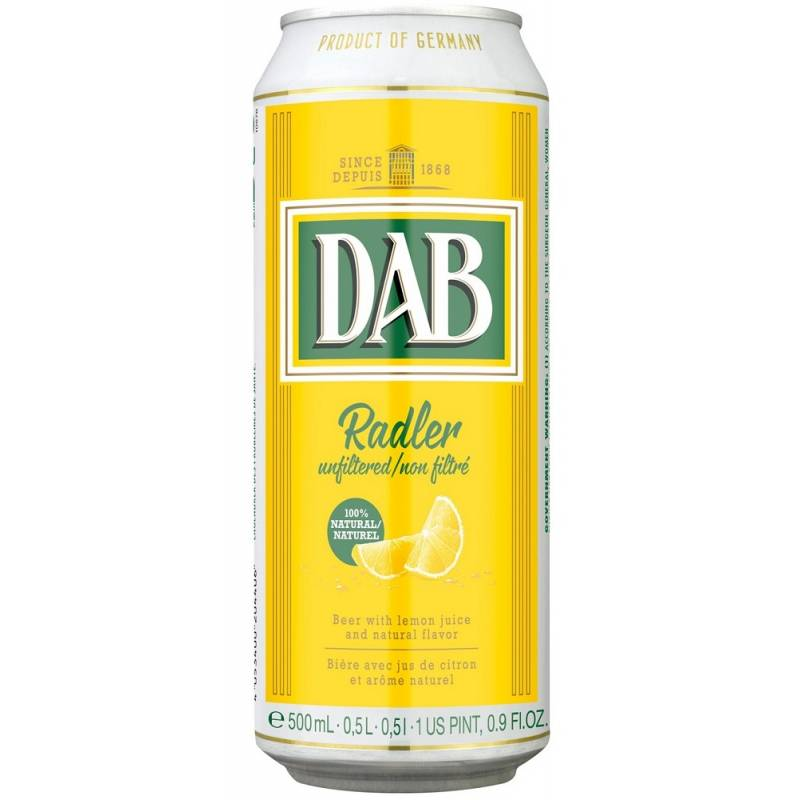 DAB Radler - 0,5 л ж/б  - АРХИВ!!!