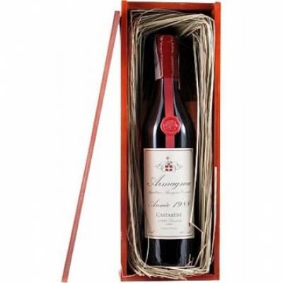 Armagnac Castarede, wooden box, 1988 (0,7 л)