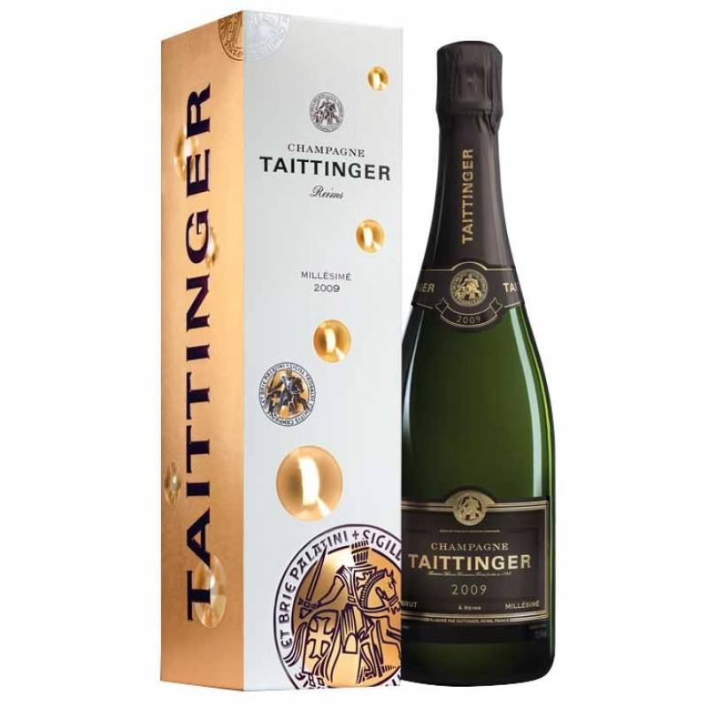 Taittinger Brut Millesime, 2009, в коробке (0,75 л)